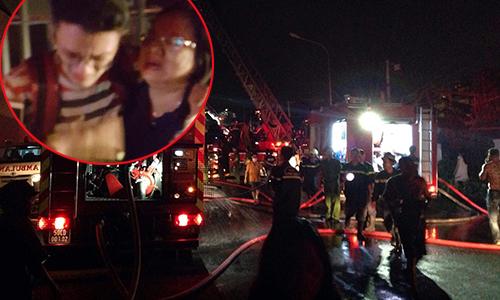 Thanh Tùng thoát khỏi đám cháy nhờ sự trợ giúp của bố qua điện thoại.