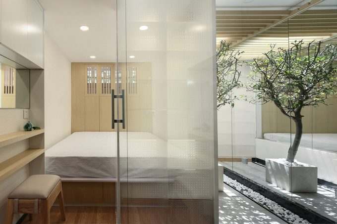 Căn hộ 31 m2 sáng trưng dù không có cửa sổ