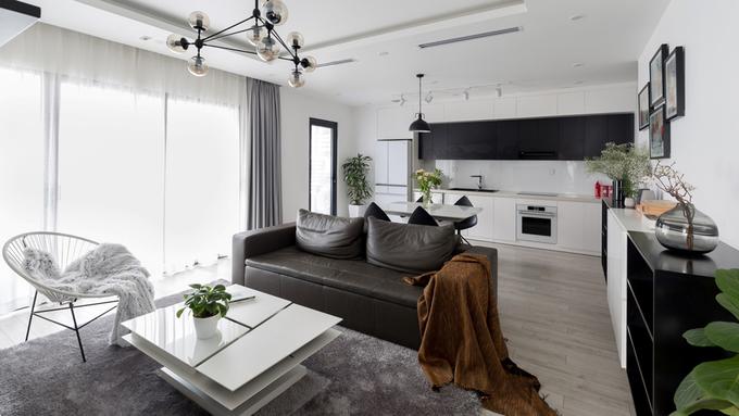 Căn chung cư chỉ có 2 sắc trắng đen ở Hà Nội