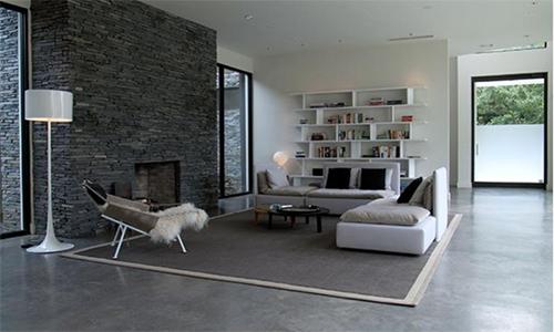 Sàn bê tông mài hợp với các ngôi nhà có thiết kế cá tính. Ảnh: Gull.