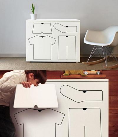 Bạn sẽ không bao giờ lẫn lộn chỗ để quần, áo, tất... với chiếc tủ có các ngăn kéo thú vị này.