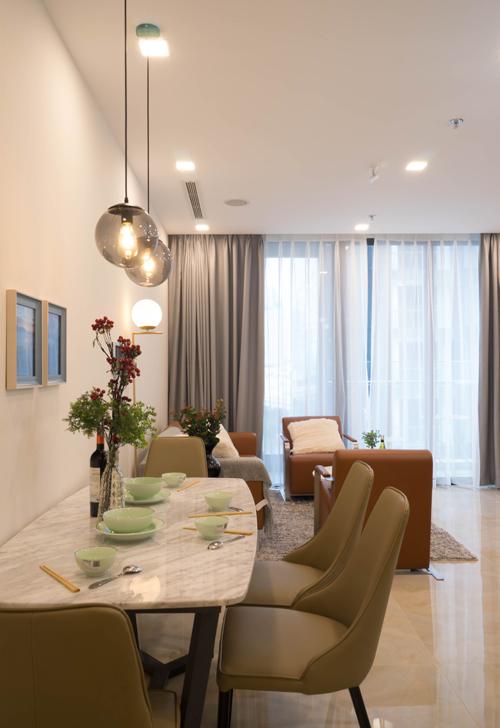 Căn hộ 76 m2 được hoàn thiện nội thất trong 7 ngày