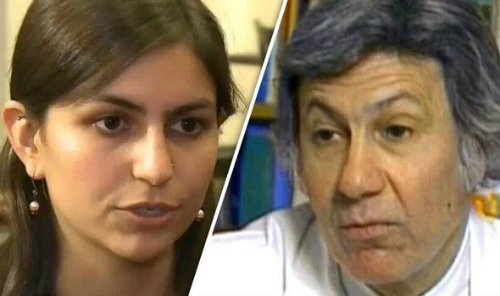 Cô gáiRebecca là người đầu tiên đâm đơn kiện cha đẻ sinh học của mình. Ảnh: BBC.