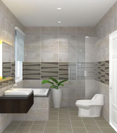 Gạch granite sẽ thích hợp hơn gạch gốm vì chất liệu đá cứng, ít bị rạn nứt, có khả năng chịu độ ẩm, tác động của nước. Sau thời gian dài sử dụng, gạch không bị bong tróc lớp men hay phai màu như ceramic.