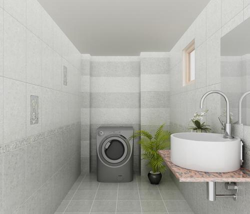 Việc lựa chọn cách ốp gạch và viền nhà vệ sinh phụ thuộc vào kích thước của phòng tắm. Những căn phòng rộng nên chọn gạch ốp ngang, còn nếu muốn tăng chiều cao thì sử dụng gạch dọc. .