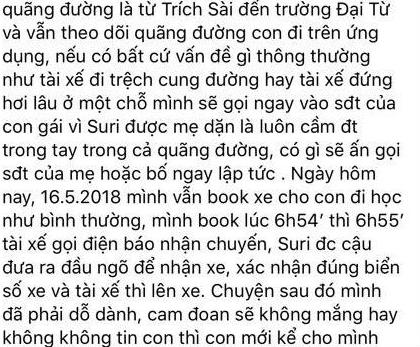 Chia sẻ của chị Linh trên Facebook cá nhân.