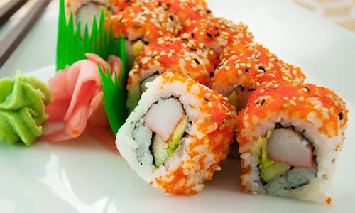 Thanh cua là thành phần chính làm món sushi California. Ảnh: Sushi.