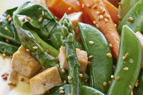 Rau xào đậu phụ - món chay theo phong cách ẩm thực Pháp