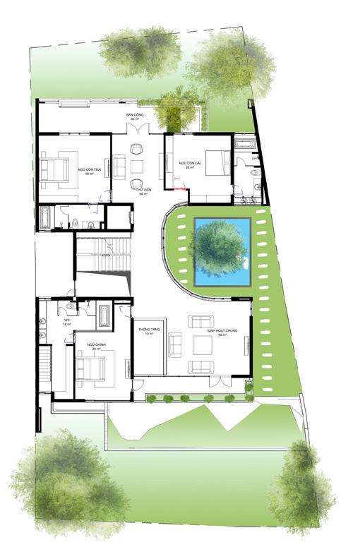 dong anh 17 1529634084 600x0 - Ngôi nhà vườn này như một công viên thu nhỏ với diện tích 450m2