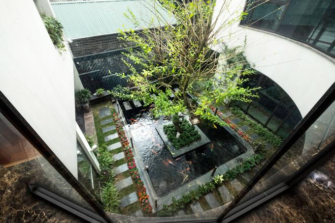 Công viên thu nhỏ giúp ngôi nhà Hà Nội mát rượi