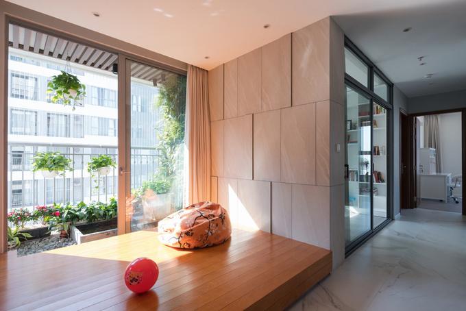 Căn hộ 130 m2 thừa nắng gió, ít tốn điện ở Hà Nội