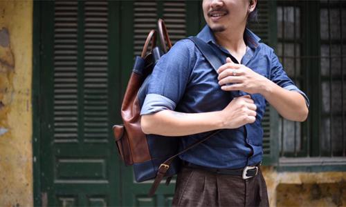 Chiếc túi da có giá 30 triệu đồng được anh Long hoàn thiện sau gần hơn nửatháng.Ảnh:Trọng Nghĩa.