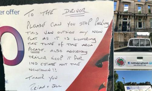 Chiếc xe từ thiện đỗ bên ngoài khu vực tòa nhà giàu có, và người lái xe nhận được một lời đề nghị khiếm nhã.