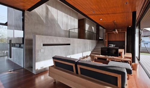 Khu vực phòng khách khá đơn giản.