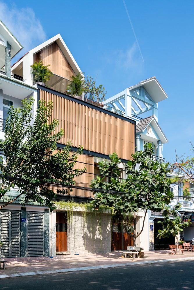 Ngôi nhà ghép từ hai căn giống hệt nhau ở Vũng Tàu