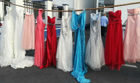 Số váy cưới mới nhất mà Gu đánh cắp. Ảnh: Shine.