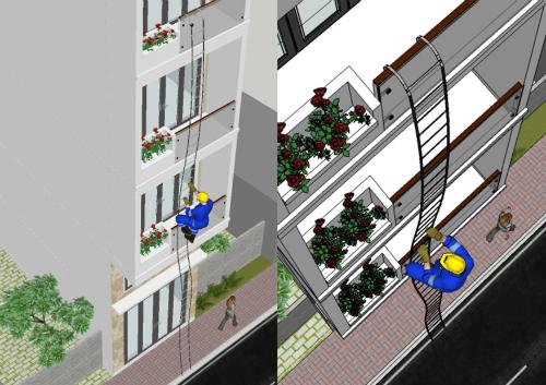 Cách thiết kế lối thoát hiểm cho nhà phố khi bà hỏa ghé thăm - 4
