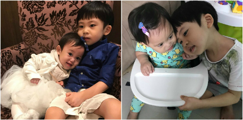 Bé Ashton và em gái một tuổi. Ảnh: Sg.theasianparent.