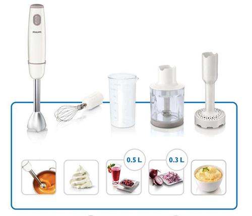Máy xay cầm tay Philips: giảm 17%, giá chỉ 1,048 triệu đồng.Máy sử dụng công nghệ xay ProMix độc đáo có hình dáng tam giác, tạo ra luồng tối ưu và hiệu suất tối đa, giúp bạn có được món súp và nước sinh tố mềm mịn.