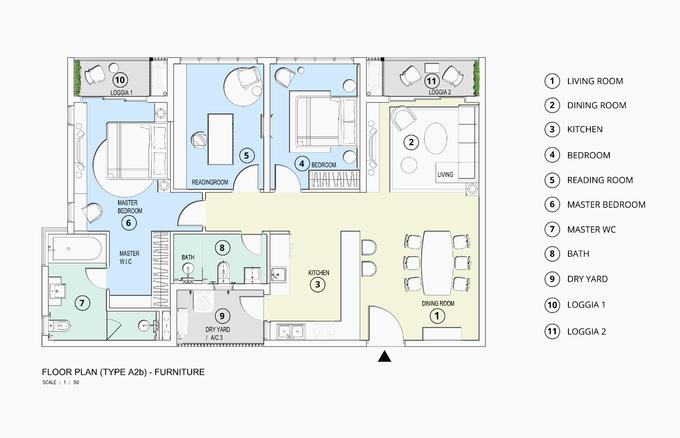 Căn hộ 91m2 có nội thất hơn 2 tỷ đồng tại TP HCM