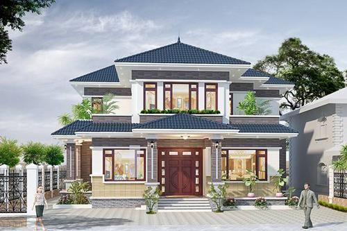 Biệt thự đẹp kiến trúc mái thái do Kata thiết kế được nhiều khách hàng đánh giá cao. Theo đại diện công ty, xu hướng thiết kế này sẽ được ưa chuộng trong năm 2019.