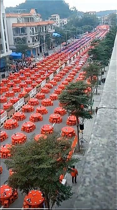 Đám cưới ở Trung Quốc hôm 17/11. Ảnh:TikTok