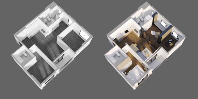 245 triệu cải tạo giúp căn hộ Hà Nội 75 m2 đẹp rộng gấp đôi