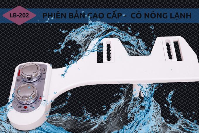 Vòi rửa vệ sinh thông minh Luva Bidet có chế độ nước nóng lạnh, đáp ứng nhu cầu của người dùng trong nhiều trường hợp.
