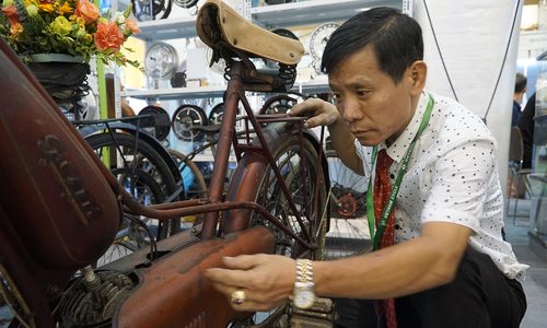 Chiếc xe đạp cũ giá 200 triệu chủ nhân Hà Nội không dám đi - Đời sống