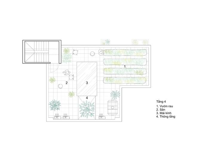 Nhà méo 14 cạnh tràn ánh sáng trong ngõ hẹp Hà Nội