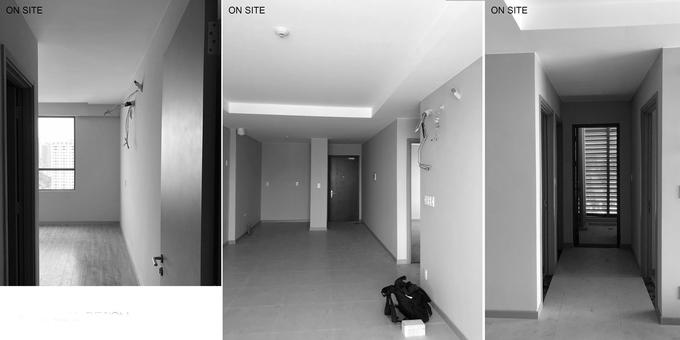 3 tấm kính làm 'vô hình' nhiều phòng trong căn hộ Sài Gòn