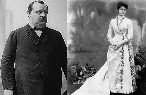 Chiếc váy cưới có lá nguyệt quế trang trí ấn tượng của bà Frances Folsom. Ảnh: Trend-chaser.
