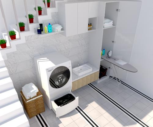 Thiết kế  nhỏ gọn phù hợp với nhiều căn hộ.