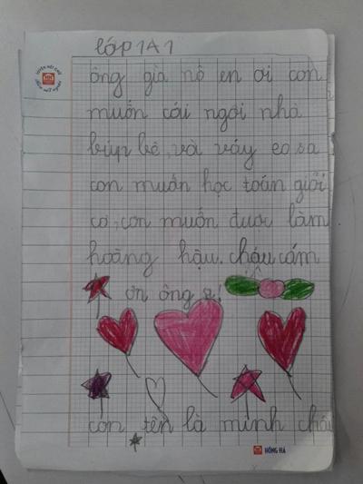 Cô bé Minh Châu, 6 tuổi, quận Hà Đông, Hà Nội cũng chỉ có điều ước nhỏ nhoi là được làm