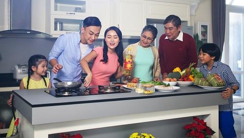 Khai bếp hội tụ yếu tố ngũ hành, mang đến không khí ấm áp cho gia đình.