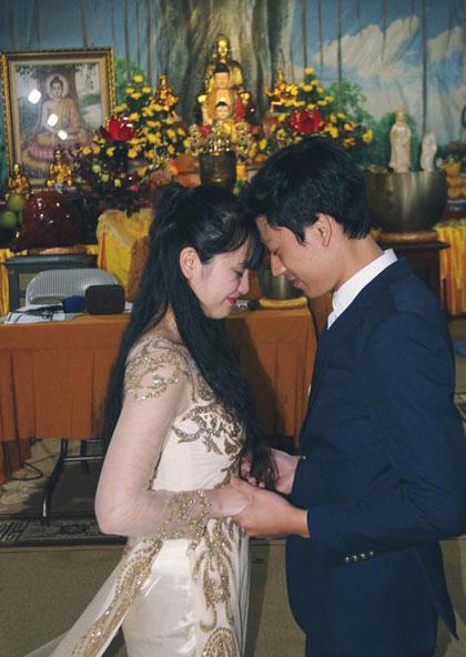Thanh Tâm nói rằng cô biết ơn vì có một người chồng tốt bụng, luôn cảm thông và chăm lo hết mực cho vợ. Ảnh: TT.