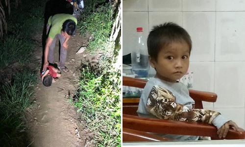 Cậu bé ngủ ngoài đường được phát hiện lúc gần 10 giờ đêm và ảnh em được chăm sóc ở viện.
