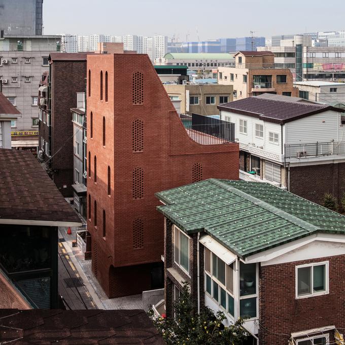 Ngôi nhà Hàn Quốc có hình dáng như đàn dương cầm