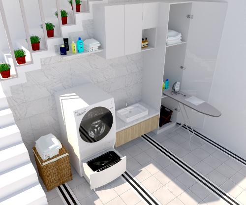Ý tưởng thiết kế góc giặt xứng tầm với biệt thự sang trọng (bài xin Edit) - 2