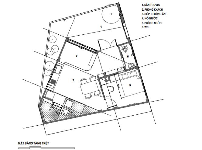 Lời giải cho mảnh đất ngũ giác khiến chủ nhà đồng ý thi công ngay - ảnh 23