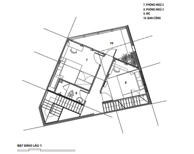 Lời giải cho mảnh đất ngũ giác khiến chủ nhà đồng ý thi công ngay - ảnh 25
