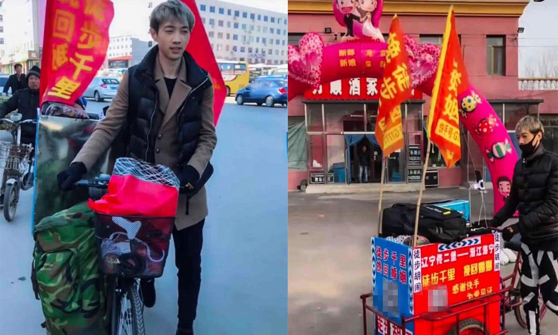 Chàng trai nghiện cờ bạc đi bộ 2.000 km để xin lỗi vợ