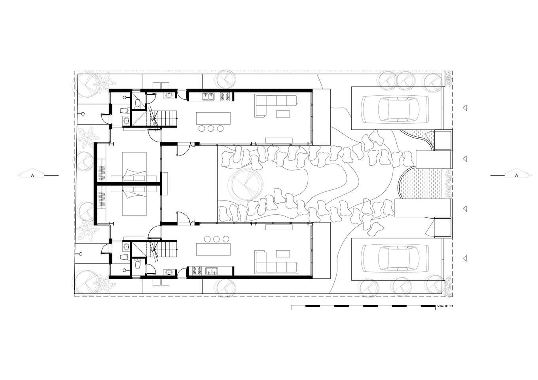 1st Plan 1549858036 680x0 - Nhà xây hai tầng, có tổng diện tích sàn 280 m2 xanh mướt của 2 người bạn thân