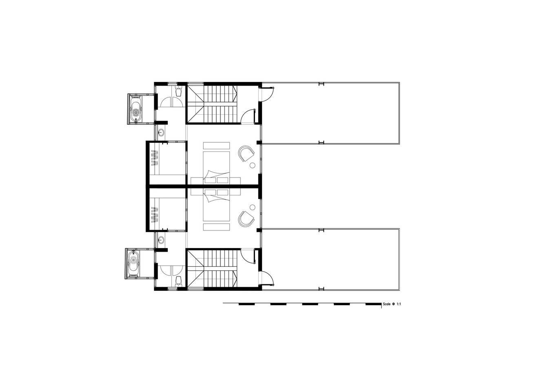 2nd Plan 1549858040 680x0 - Nhà xây hai tầng, có tổng diện tích sàn 280 m2 xanh mướt của 2 người bạn thân