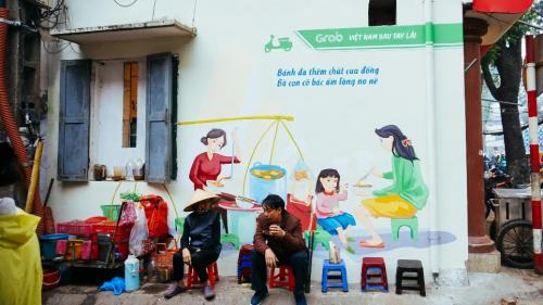 Những nét văn hóa quen thuộc trong ẩm thực Việt được Grab tái hiện mộc mạc.