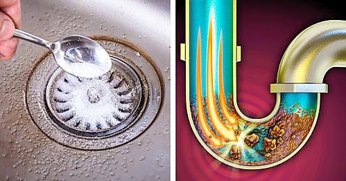 8 cách nhanh gọn, rẻ tiền để thông tắc bồn rửa bát