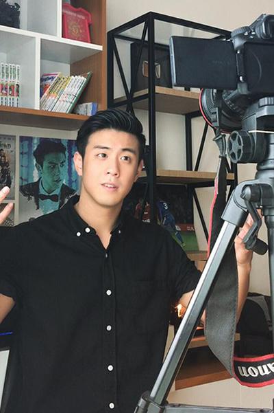 Với một chiếc camera, Thành - chủ kênh Huyme - đã có một sự nghiệp vững chắc chỉ sau 5 năm. Ảnh: Công Thành.