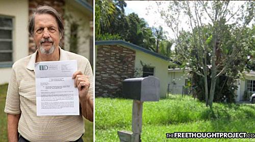 Ông Jim Ficken đã bị phạt số tiền khổng lồ vì để cỏ trong vườn cao hơn quy định thành phố. Ảnh: Fox13.