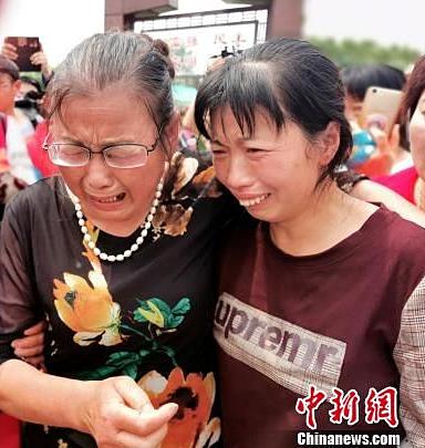 bà Xiulin gặp lại con gái ngày 18/5 vừa qua.