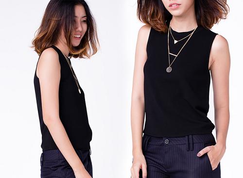Nếu thích các kiểu áo đơn giản, bạn nữ có thể chọn những mẫu áo sát nách chất liệu voan, vừa mát mẻ, vừa thanh lịch.